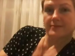 Mature Lena, 44 years old, playing with my cock on Skype, watch her here,