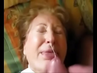 Granny get Facial and She Love It