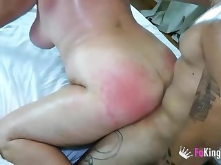 63 years old and tasting her first black dick. Busty GILF Fina and her