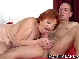 Redheaded gilf facialized