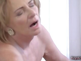 Bigtitted granny fucked by a stud
