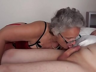 Grey haired Granny fucked by Teen Boys