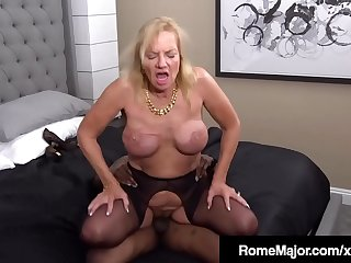 Horny Grandma Presley St Claire Wrecked By Rome Major'_s BBC!