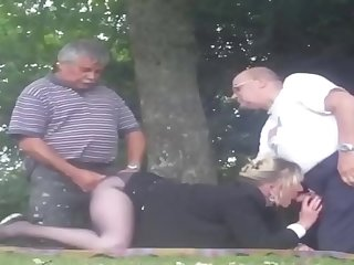 Old man group sex with once wife
