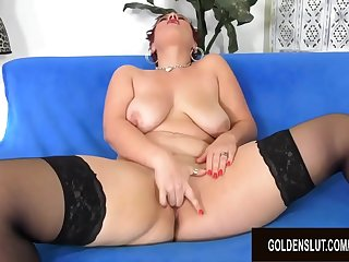 Redheaded Mature Scarlett O Ryan Plays with a Vibrator till Orgasm
