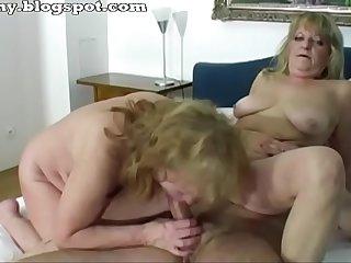 Two grandmothers enjoys sex