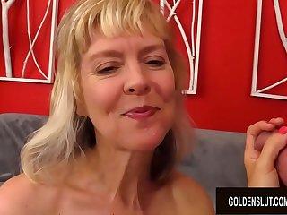 Amazing British Granny Jamie Foster Sucking Rimming and Fucking