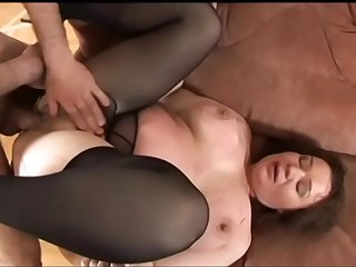 Randy cock sucking older lady Olga gets banged and creamed after giving head