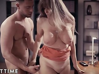 ADULT TIME Busty Mature Darla'_s Intimate Moments w/ Young Boss in Office