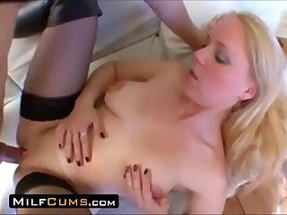 MilfCums.com  Big Clit Mom Bangs Her Son
