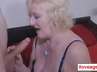 Claire'_s granny cunt pounded from behind by a young man
