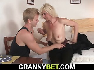 Very hot blonde mature woman