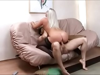 Sexy black stockings getting deep anal