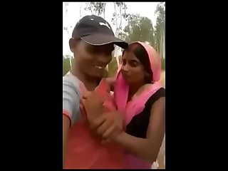 Indian mom outdoor kissing