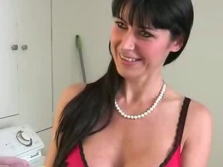 MILF Seduces Neighbour Boy And Sucks His Cock