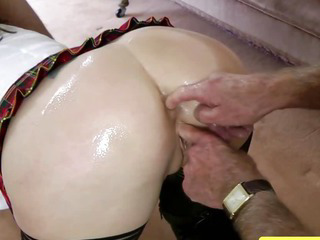 Mature stockings fingered and fucked