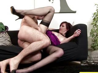 Mature stockings fucked before sucking