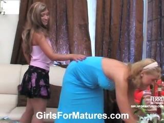 Bridget&Sheila lesbian mom in action
