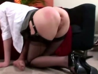 Mature British lady in stockings fucks her hubby