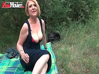 Enjoyment Vids German older housewife drilled outdoor