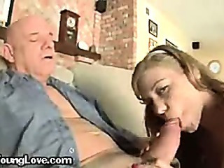 A Young Teenager Blowing Her Uncles Dick
