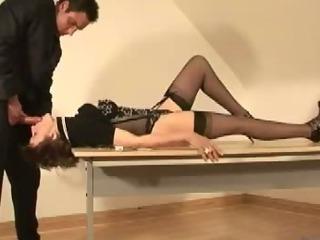 Mature british slut tied up blowjob action