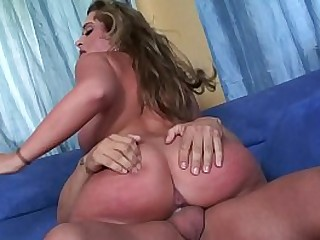 Big boobs cheating MILF Mom is riding her husband´s best friend cock hard