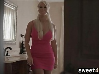 big tits mom is horny for unexperienced Son