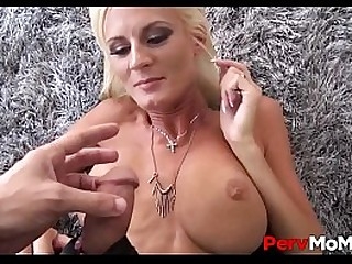 Sexy Blonde MILF Olivia Blu Has Sex With Big Dick Horny Stepson In Front Of His Sleeping Dad POV