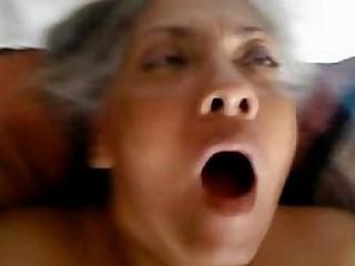 Ebony granny fucked in the ass