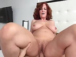 Redhead Mom seduces Son