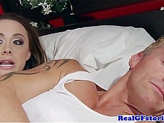 Idiot wife gets surprise anal by robber