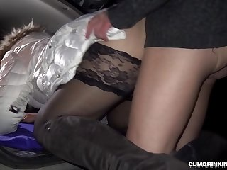 Nightly creampie gangbang at the rest area