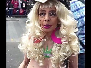 The coolest grandma I met while in Times Square New York